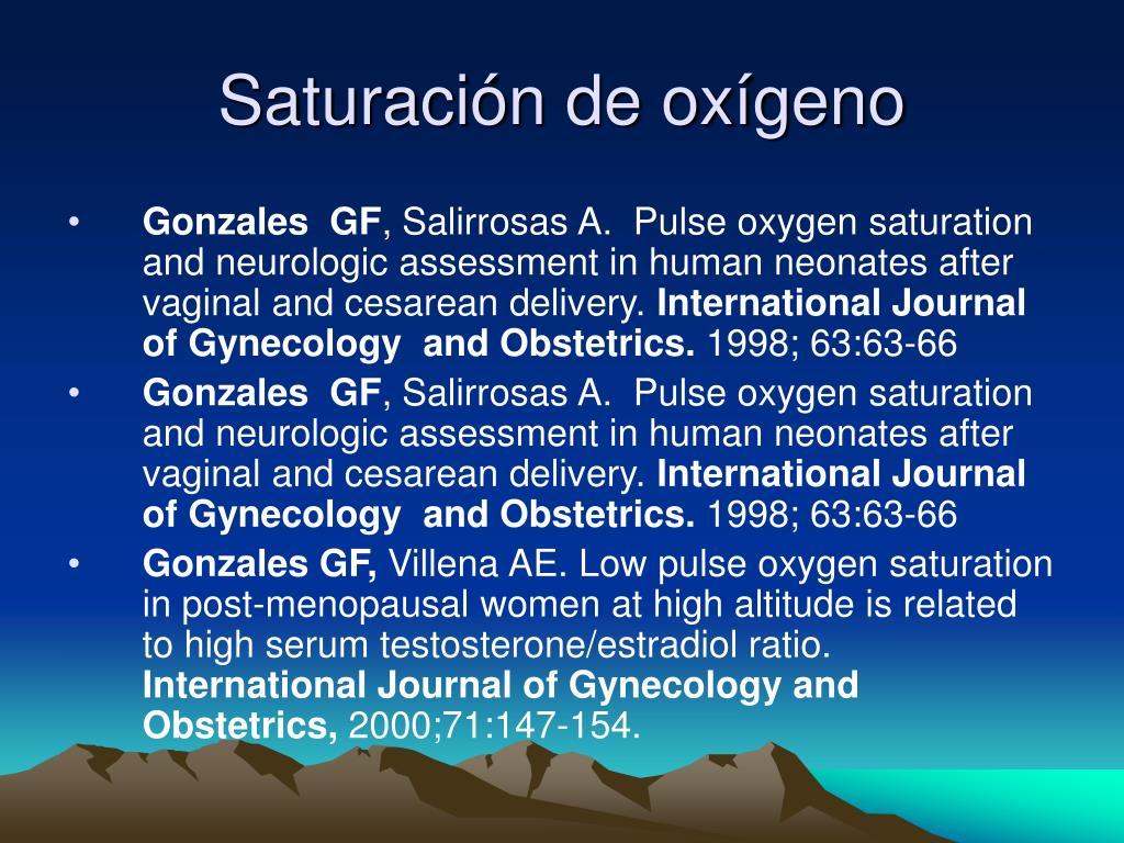 Saturación de oxígeno