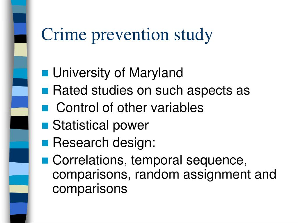 Crime prevention study