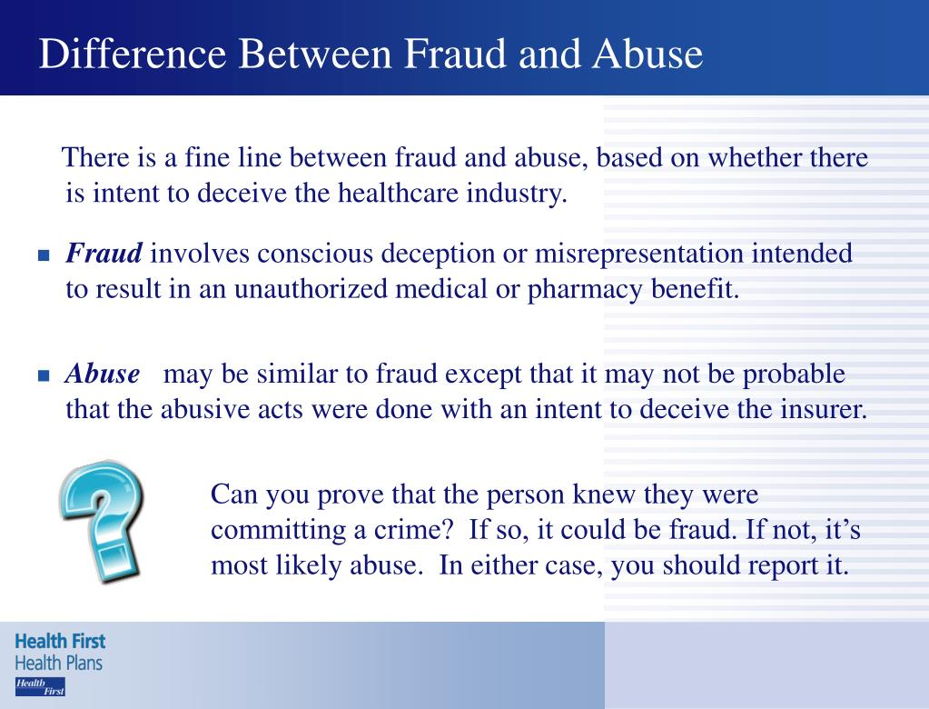 Difference Between Fraud and Abuse