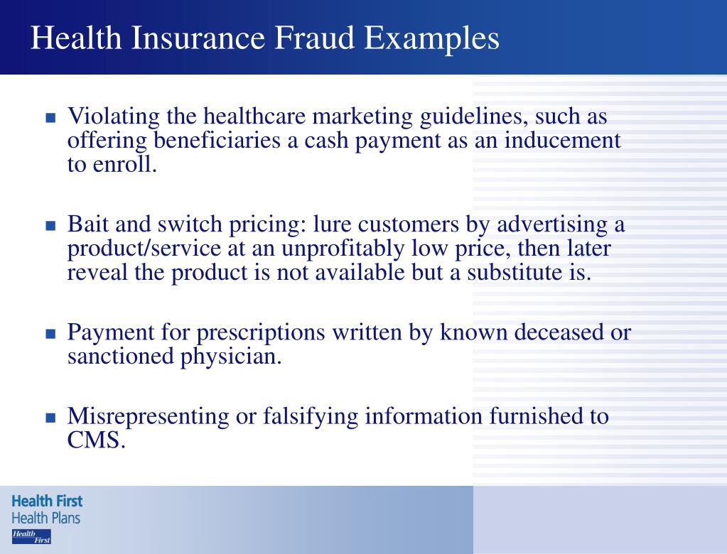 Health Insurance Fraud Examples