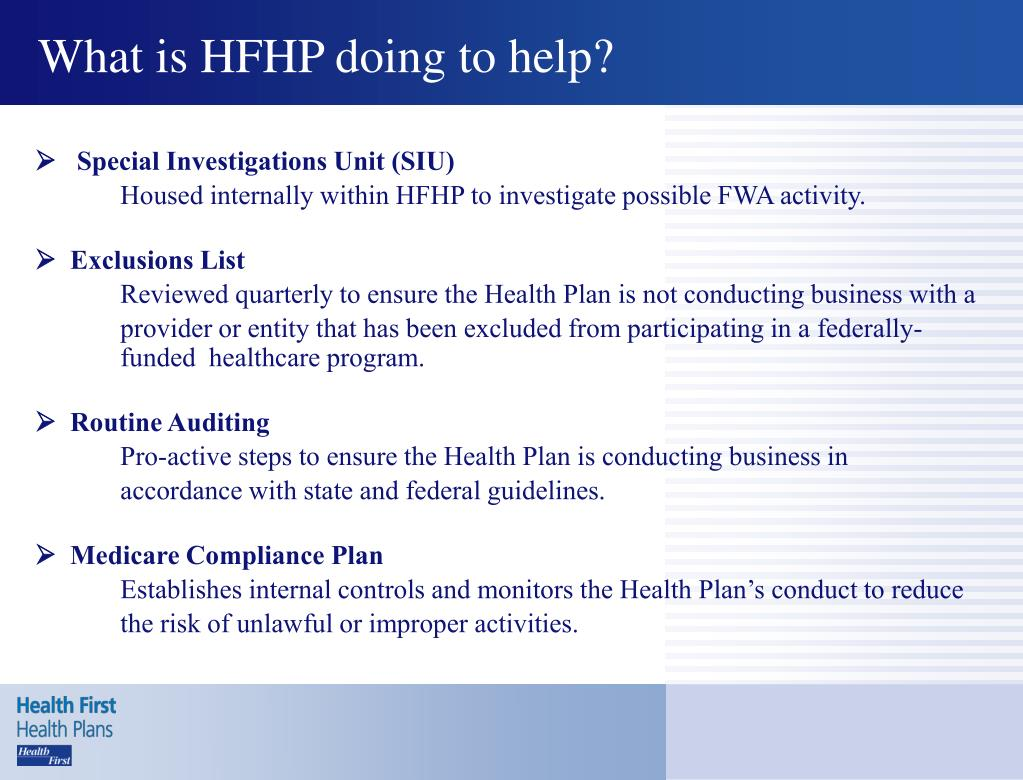 What is HFHP doing to help?