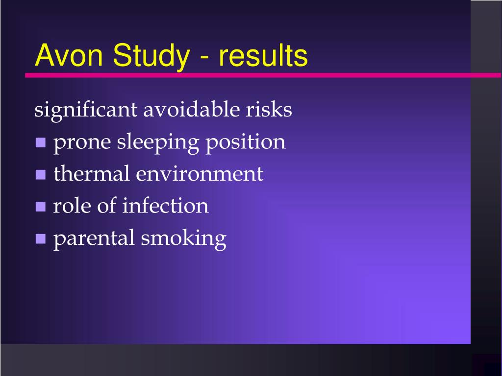 Avon Study - results
