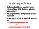 anchoring for drillers