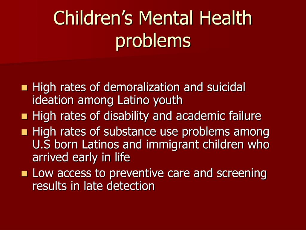 Children's Mental Health problems