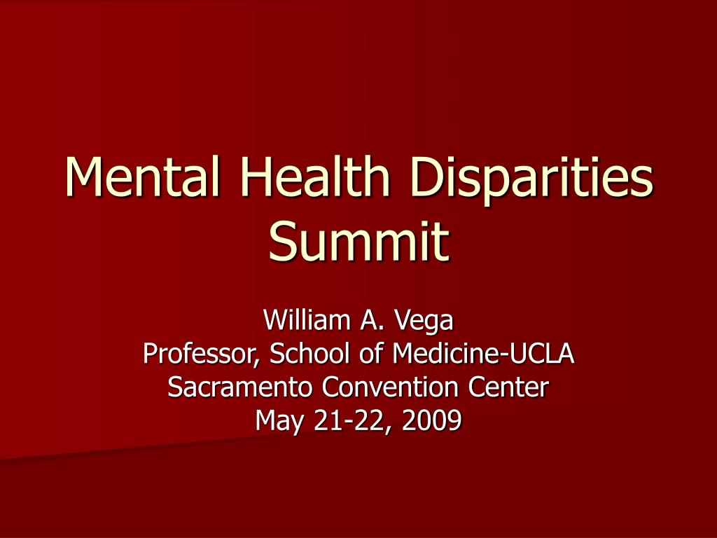 Mental Health Disparities Summit