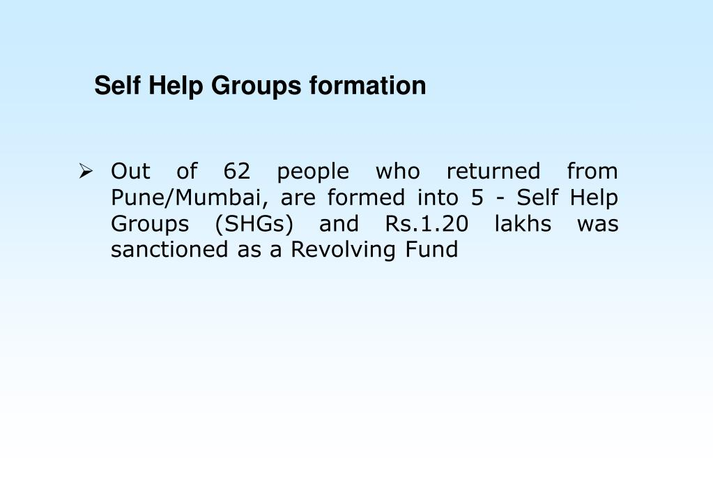Self Help Groups formation