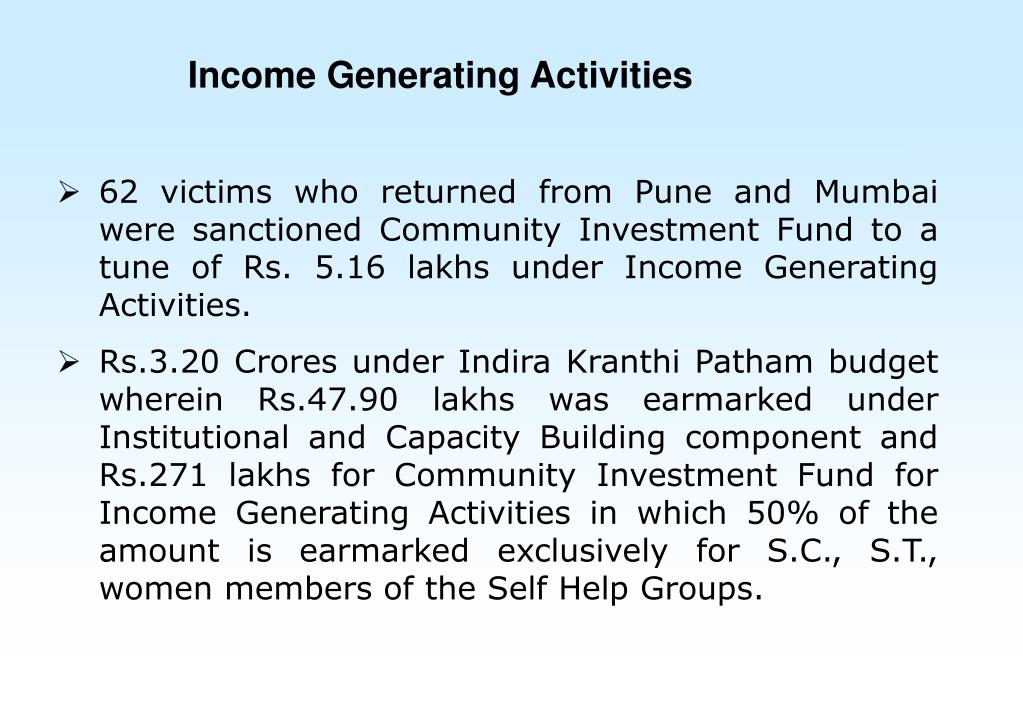 Income Generating Activities