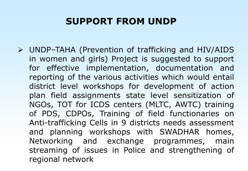 SUPPORT FROM UNDP