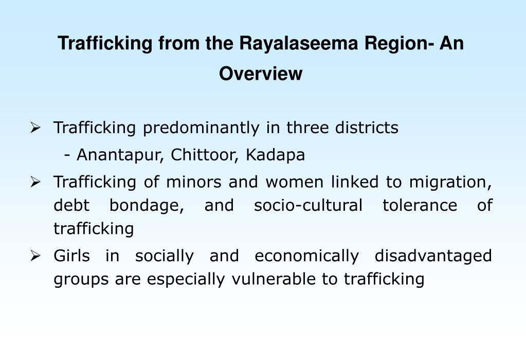 Trafficking from the Rayalaseema Region- An Overview