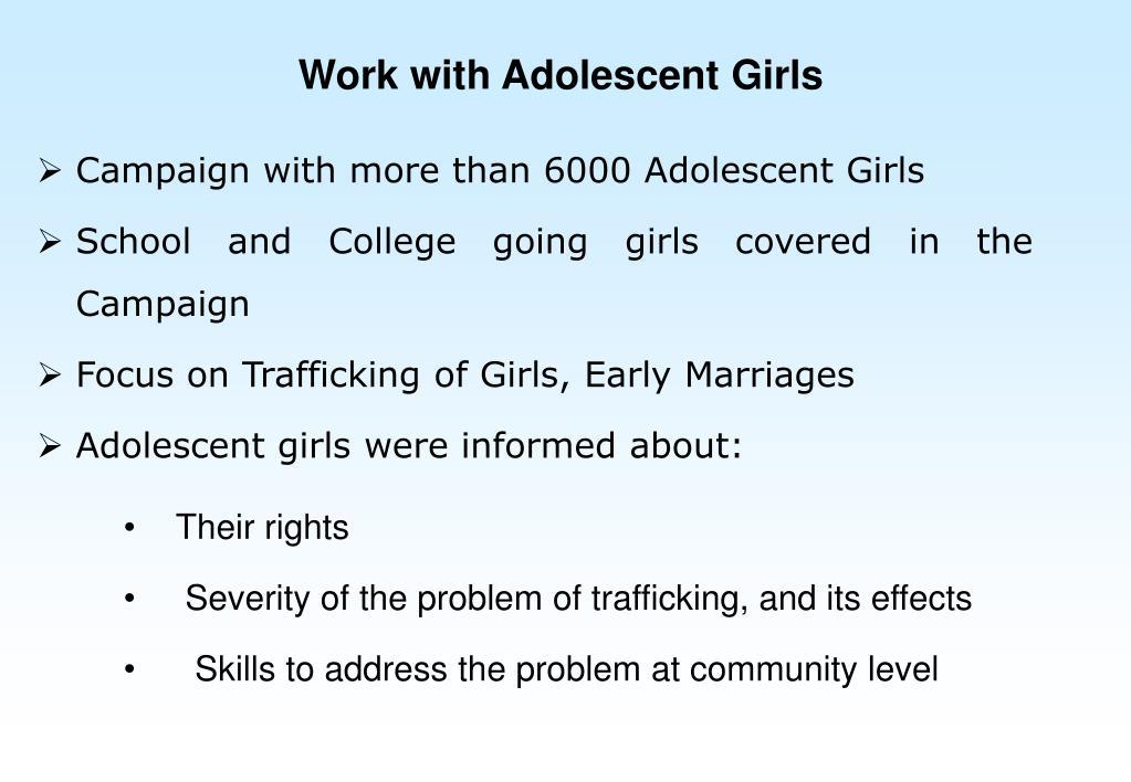 Work with Adolescent Girls