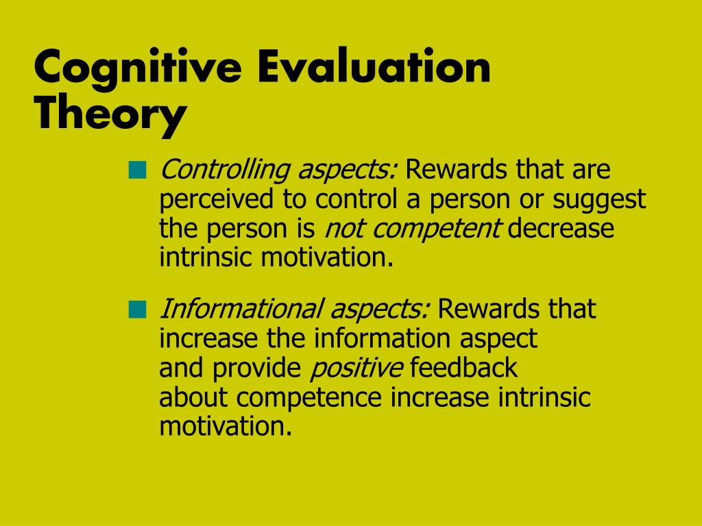 Cognitive Evaluation Theory