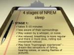 4 stages of nrem sleep