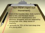 non rem rapid eye movement