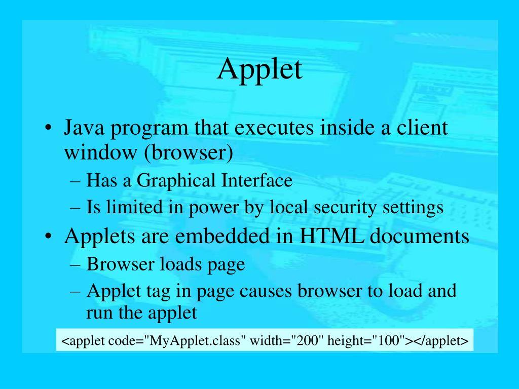 Applet