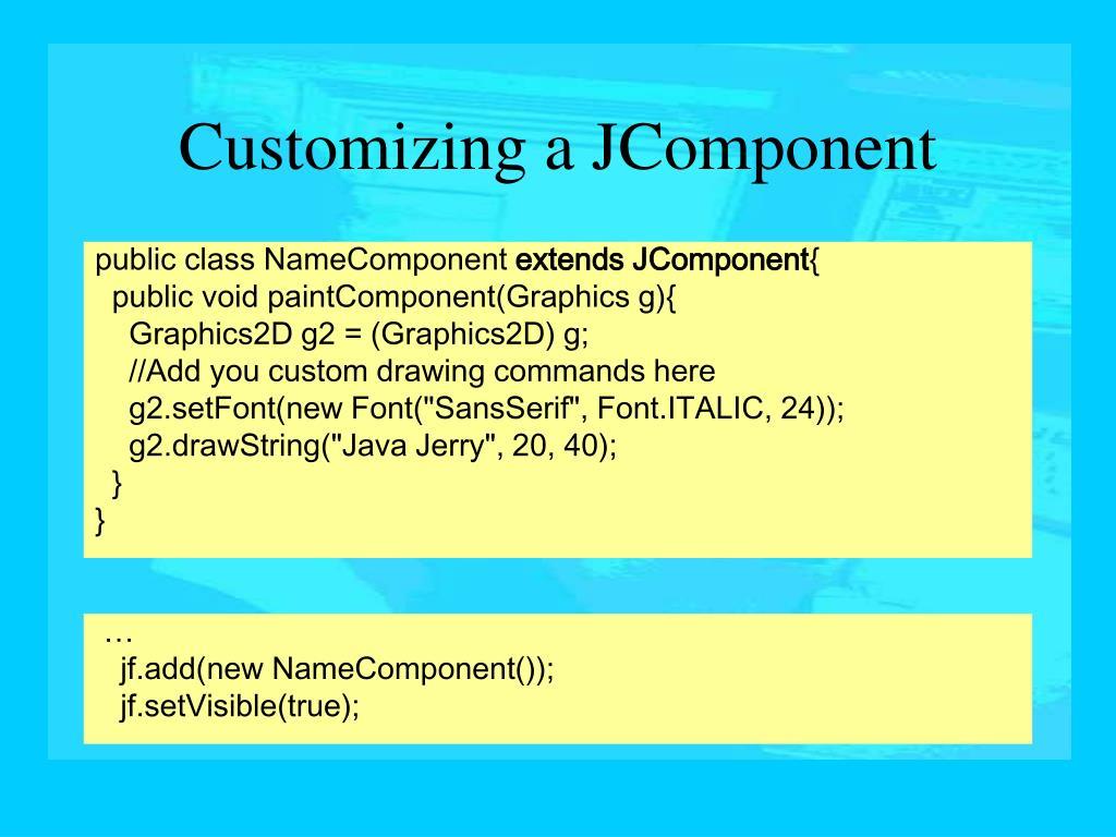 public class NameComponent