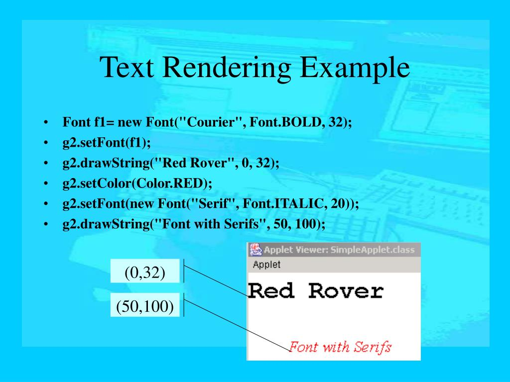 Text Rendering Example