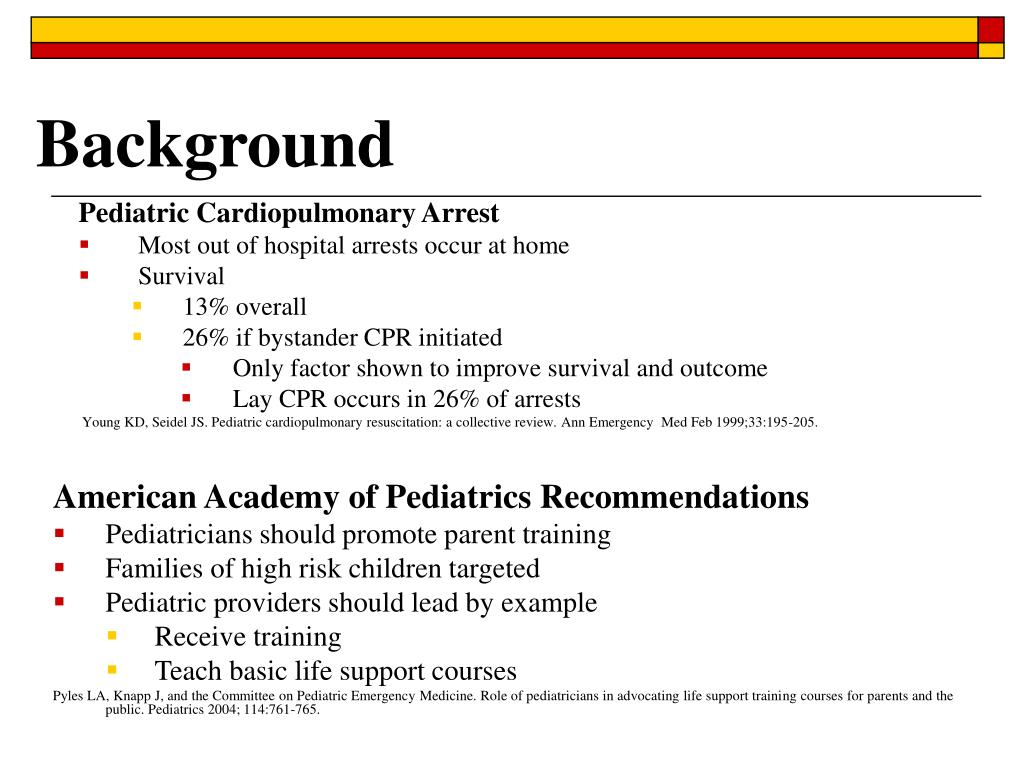 Pediatric Cardiopulmonary Arrest