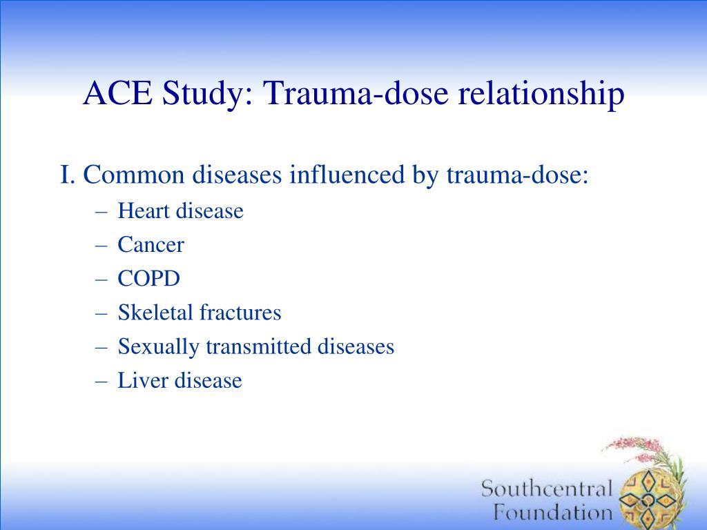 ACE Study: Trauma-dose relationship