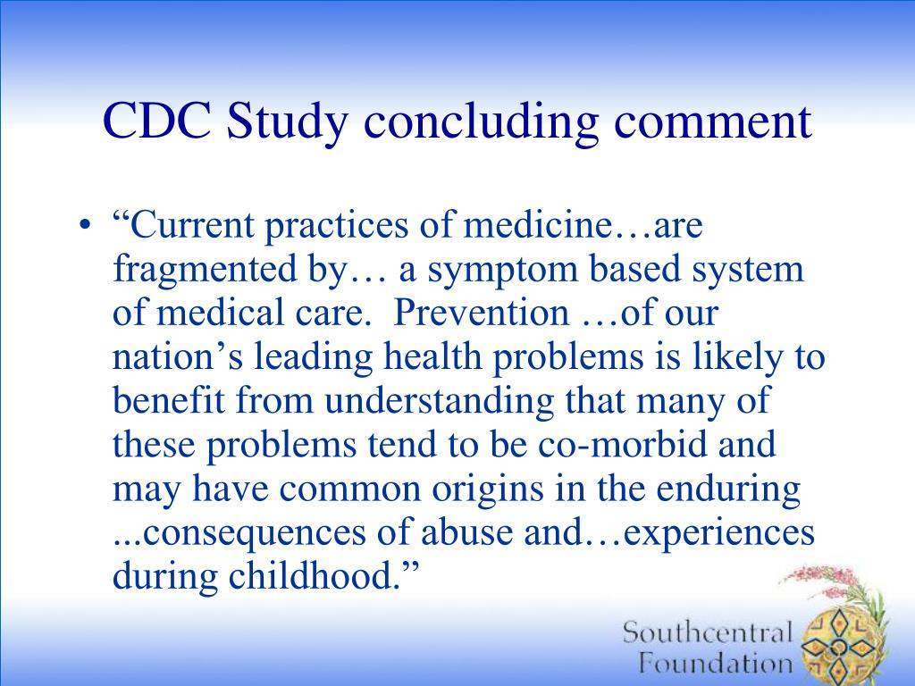 CDC Study concluding comment