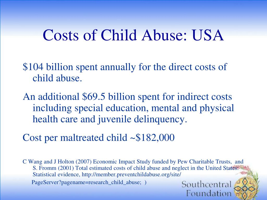 Costs of Child Abuse: USA