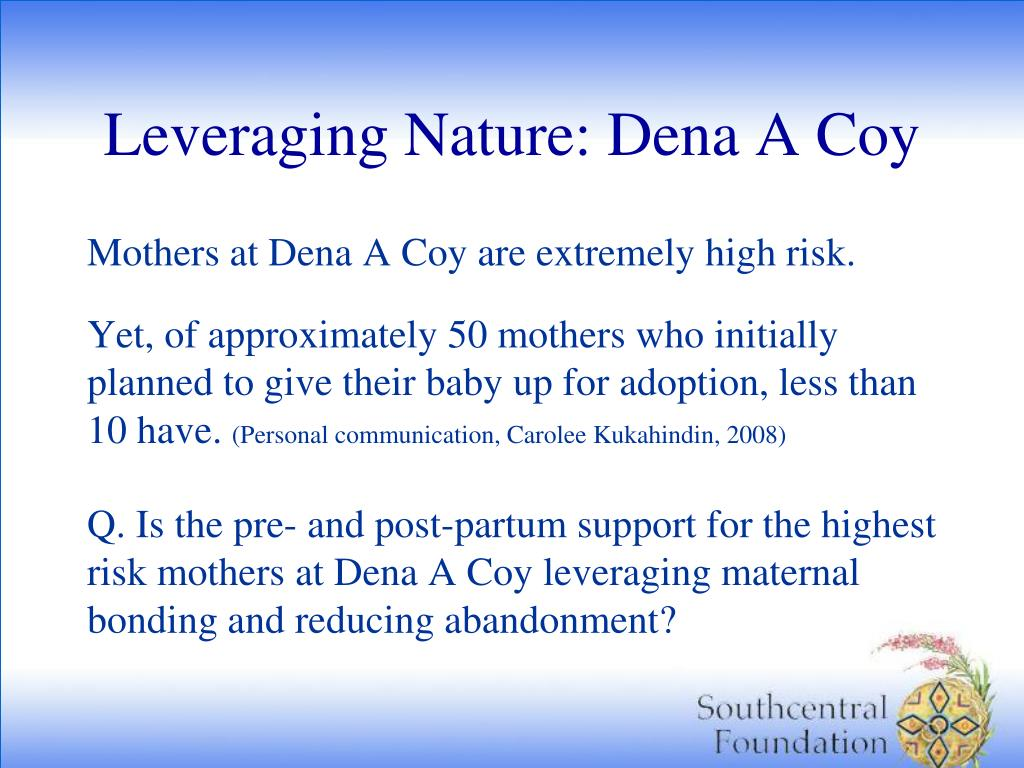 Leveraging Nature: Dena A Coy
