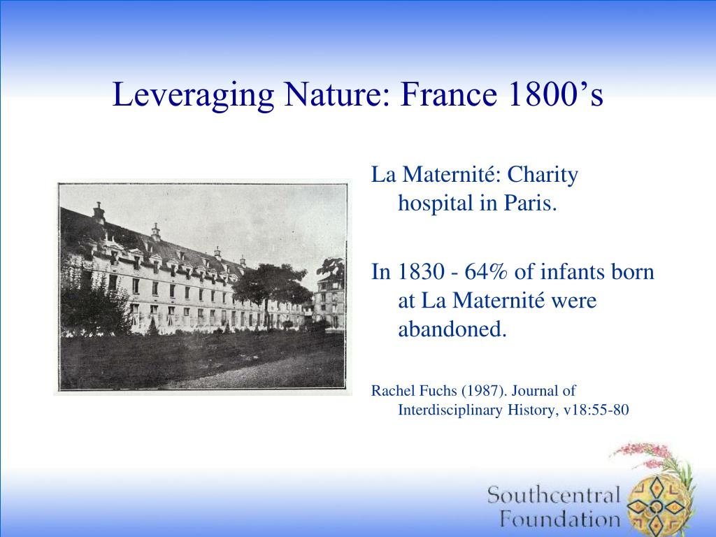 Leveraging Nature: France 1800's