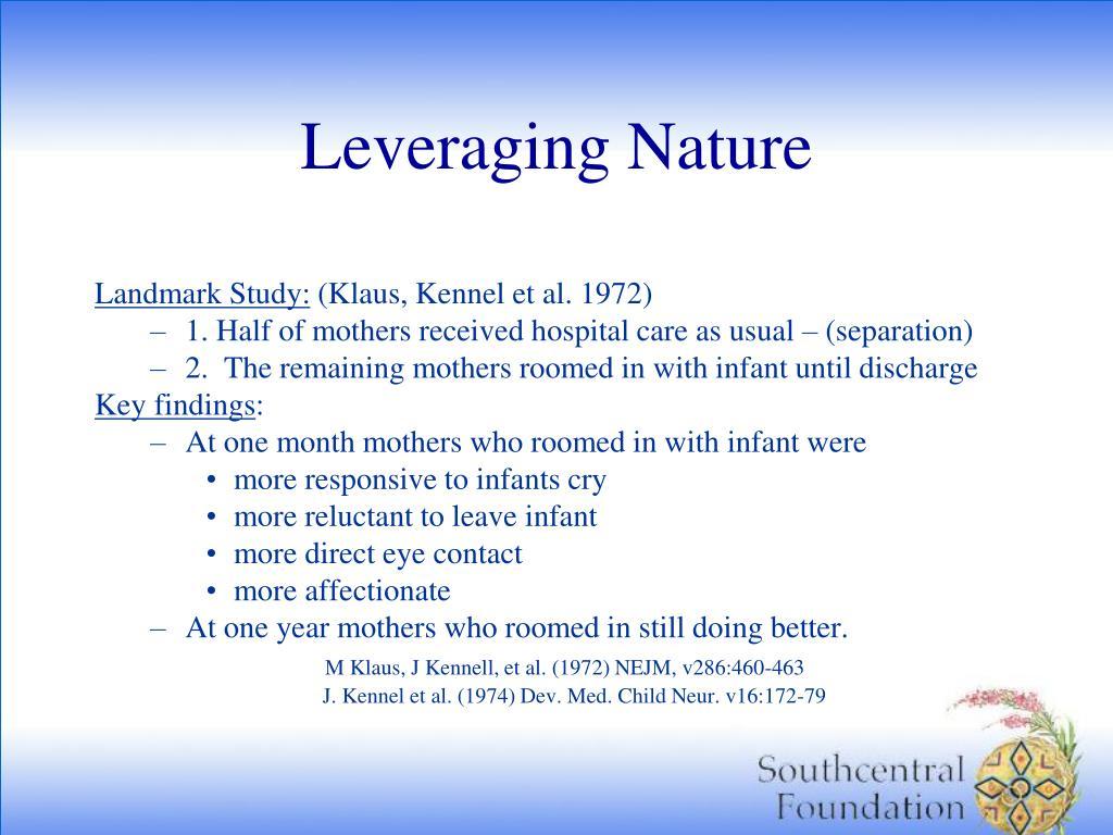 Leveraging Nature
