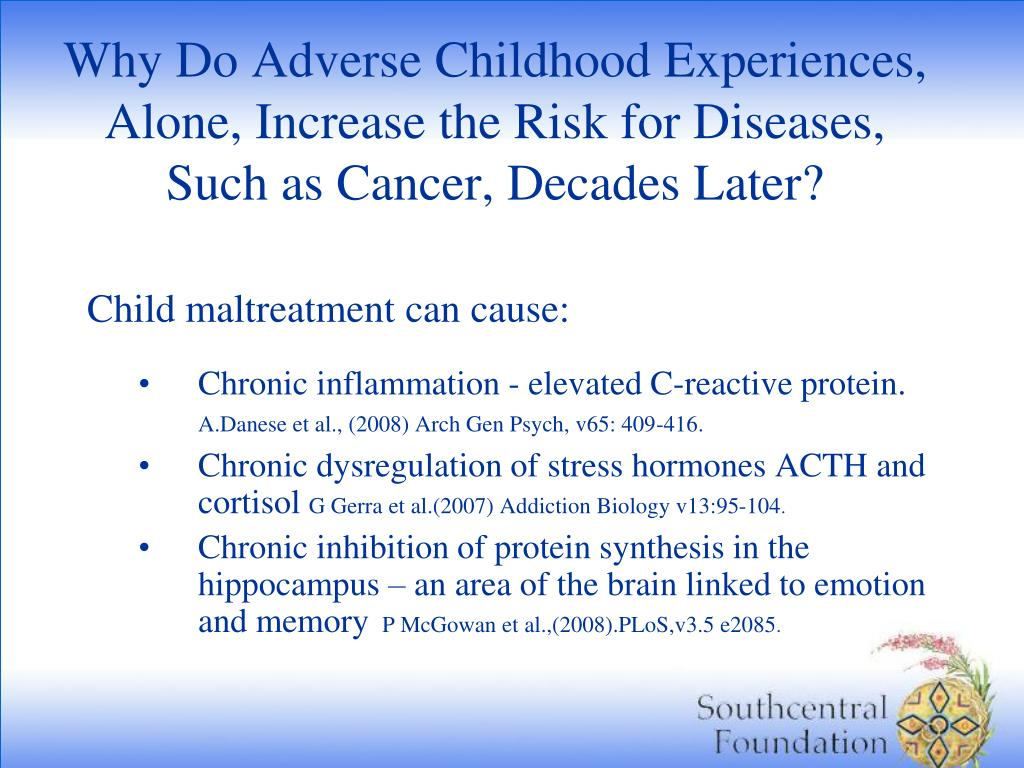 Why Do Adverse Childhood Experiences, Alone, Increase the Risk for Diseases,