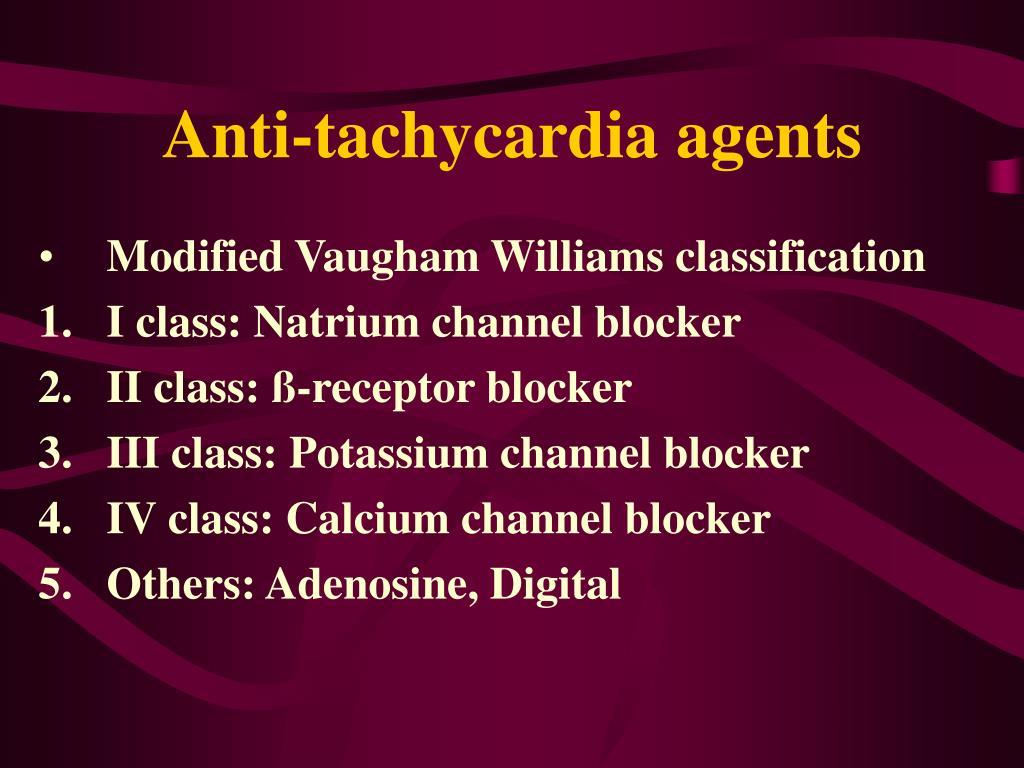 Anti-tachycardia agents