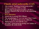 chaotic atrial tachycardia cat