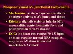 nonparoxysmal av junctional tachycardia