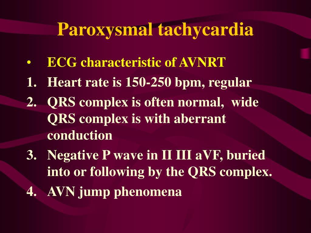 Paroxysmal tachycardia