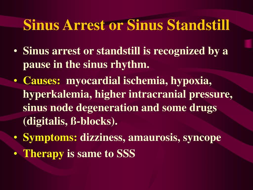 Sinus Arrest or Sinus Standstill