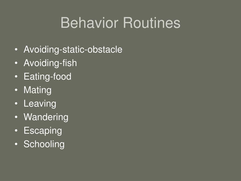 Behavior Routines