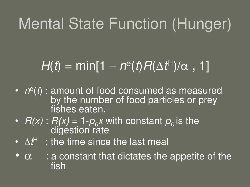 Mental State Function (Hunger)