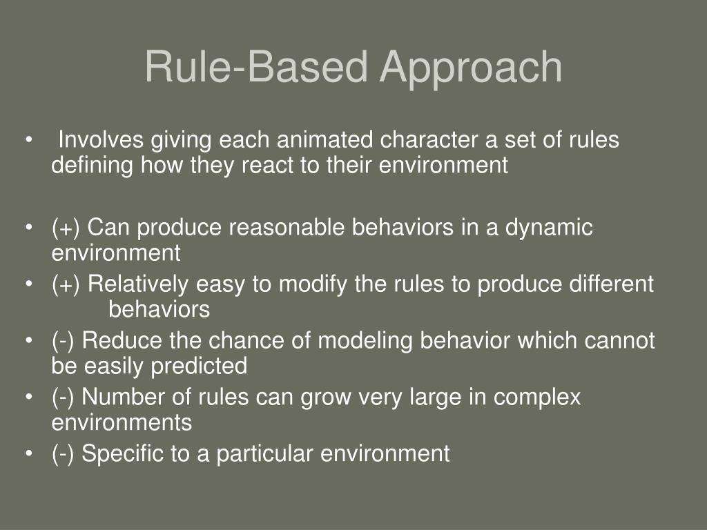 Rule-Based Approach