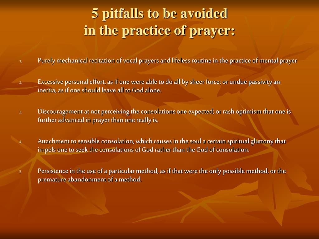 5 pitfalls to be avoided