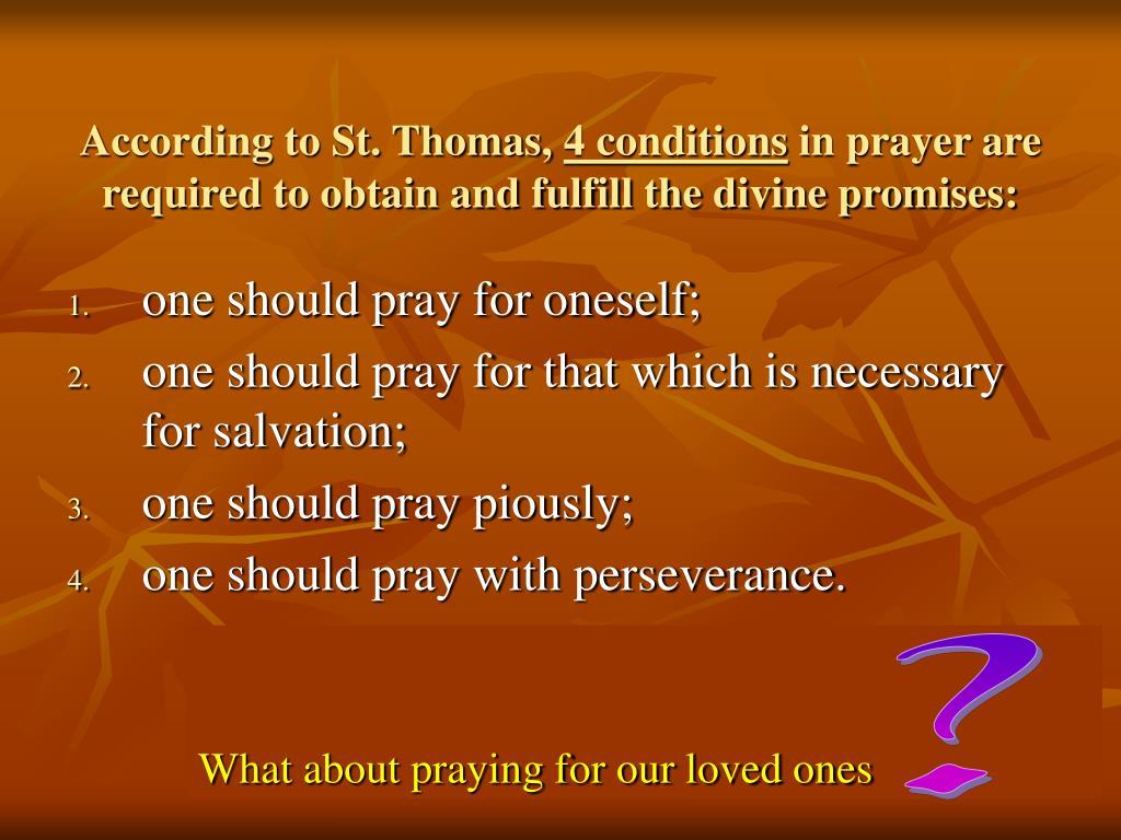According to St. Thomas,