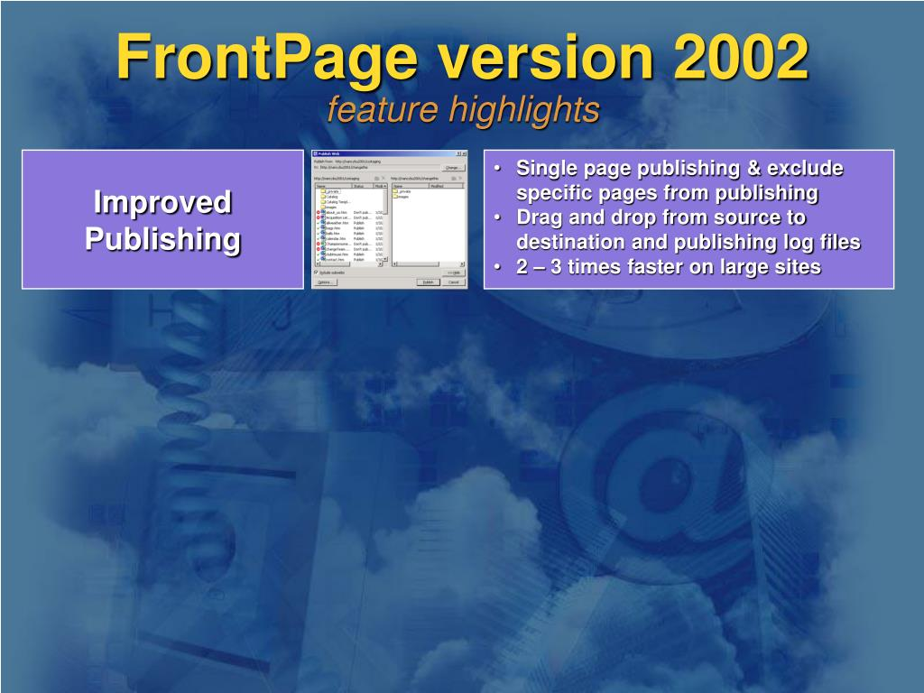 FrontPage version 2002