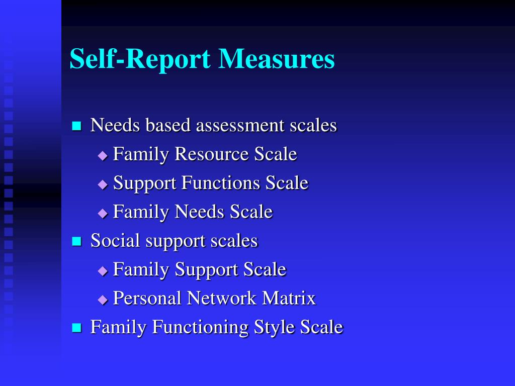 Self-Report Measures