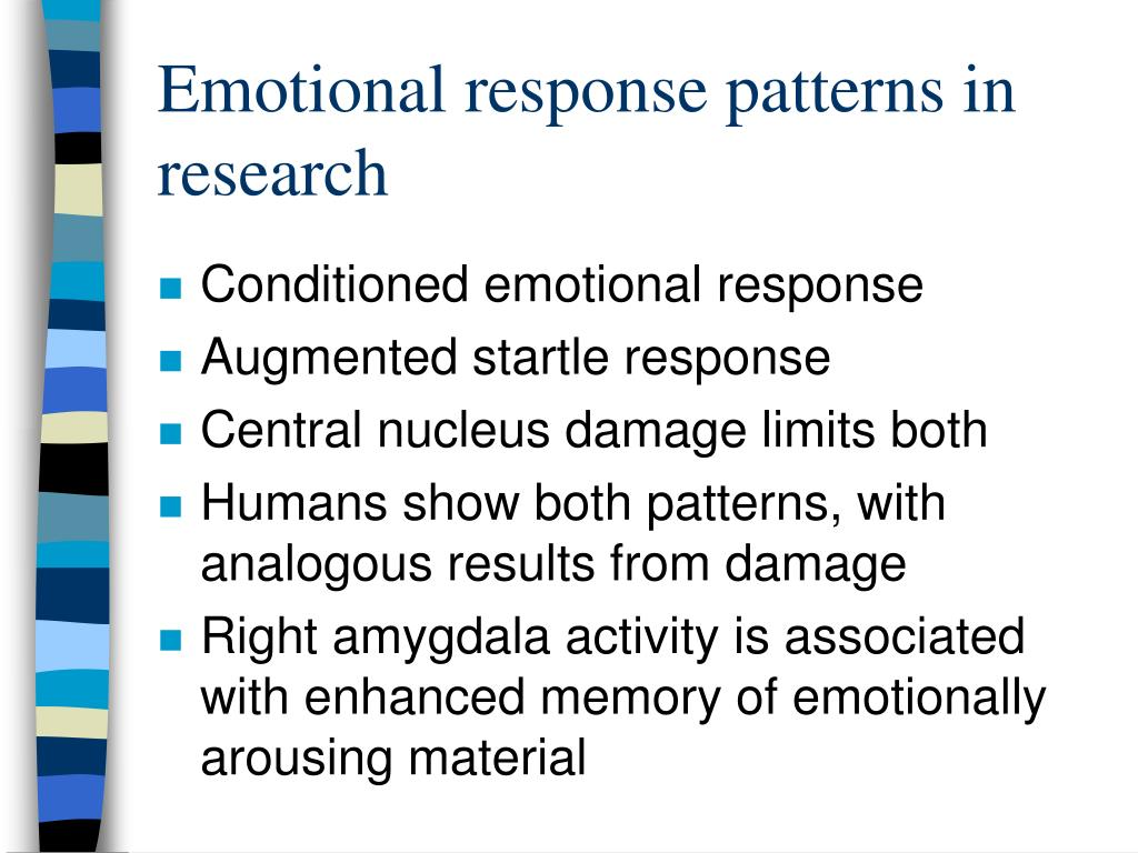 Emotional response patterns in research