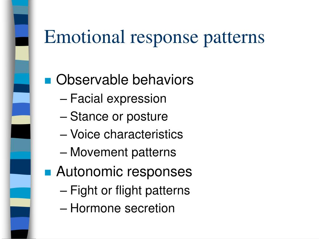 Emotional response patterns