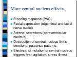 more central nucleus effects