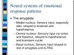 neural systems of emotional response patterns