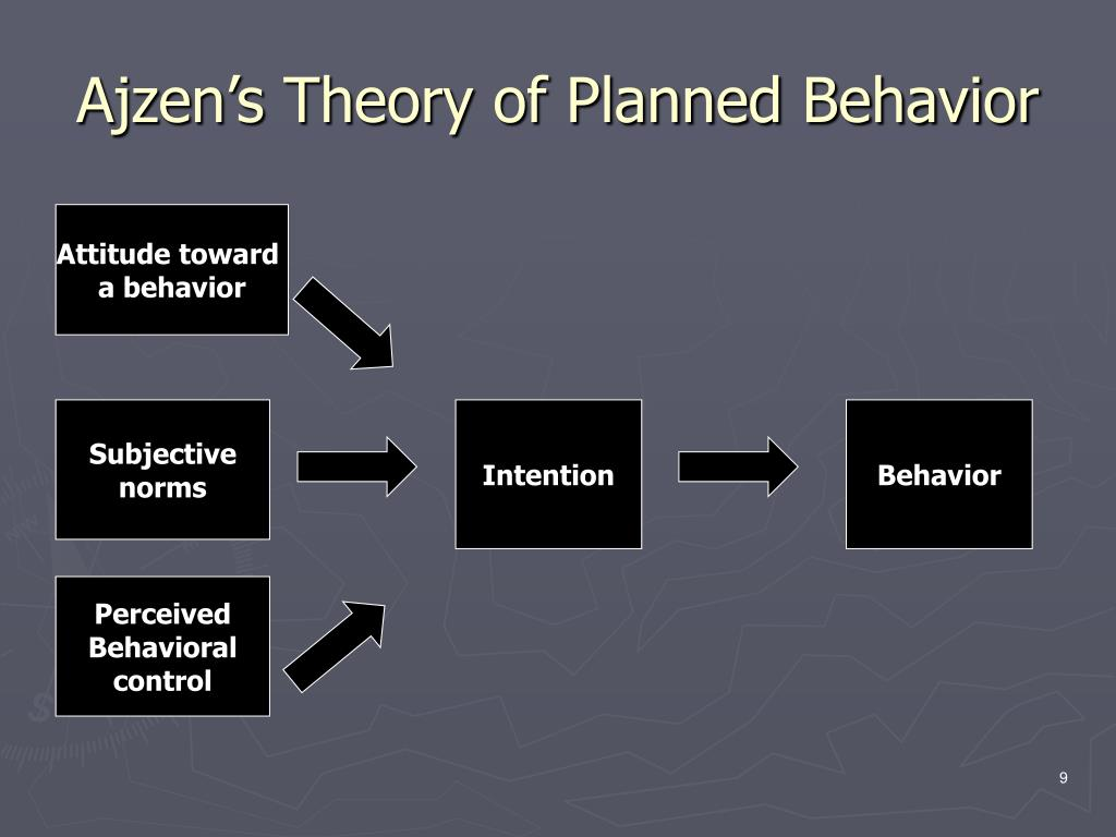 Ajzen's Theory of Planned Behavior