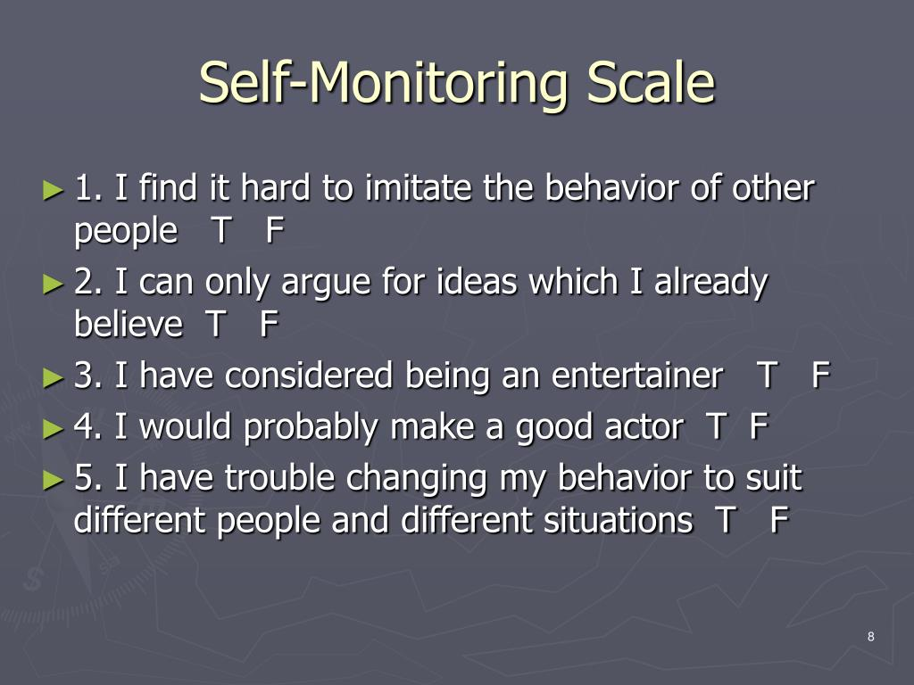 Self-Monitoring Scale