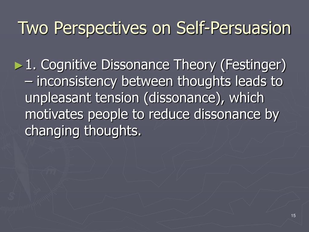 Two Perspectives on Self-Persuasion