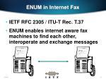 enum in internet fax