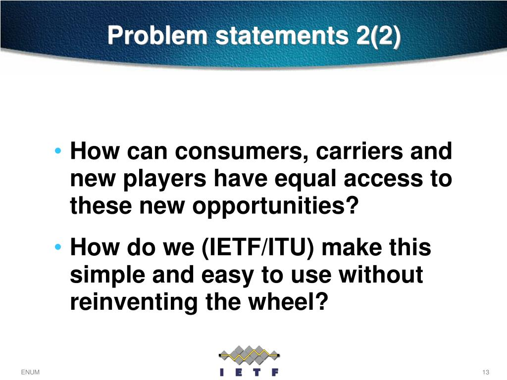 Problem statements 2(2)