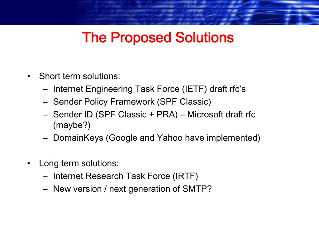 The Proposed Solutions